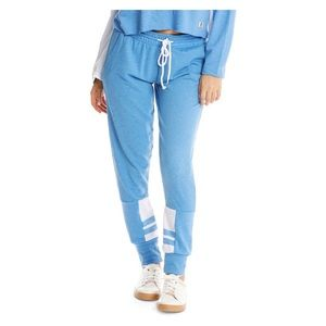 Blue & White Colorblock Lounge Pants Joggers NWT
